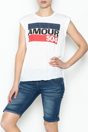Sarah Ott Rolled Cuff Muscle Tee - Product Mini Image
