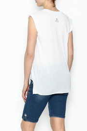 Sarah Ott Rolled Cuff Muscle Tee - Back cropped