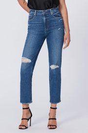 Paige Denim Sarah Slim - Ware Destructed - Product Mini Image