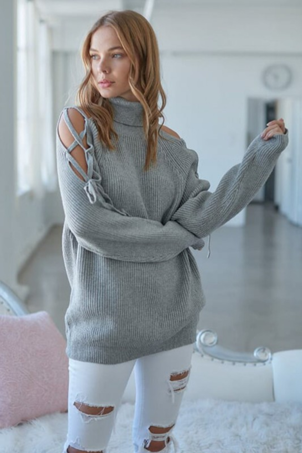 J.NNA Sarah Turtleneck Sweater - Front Cropped Image
