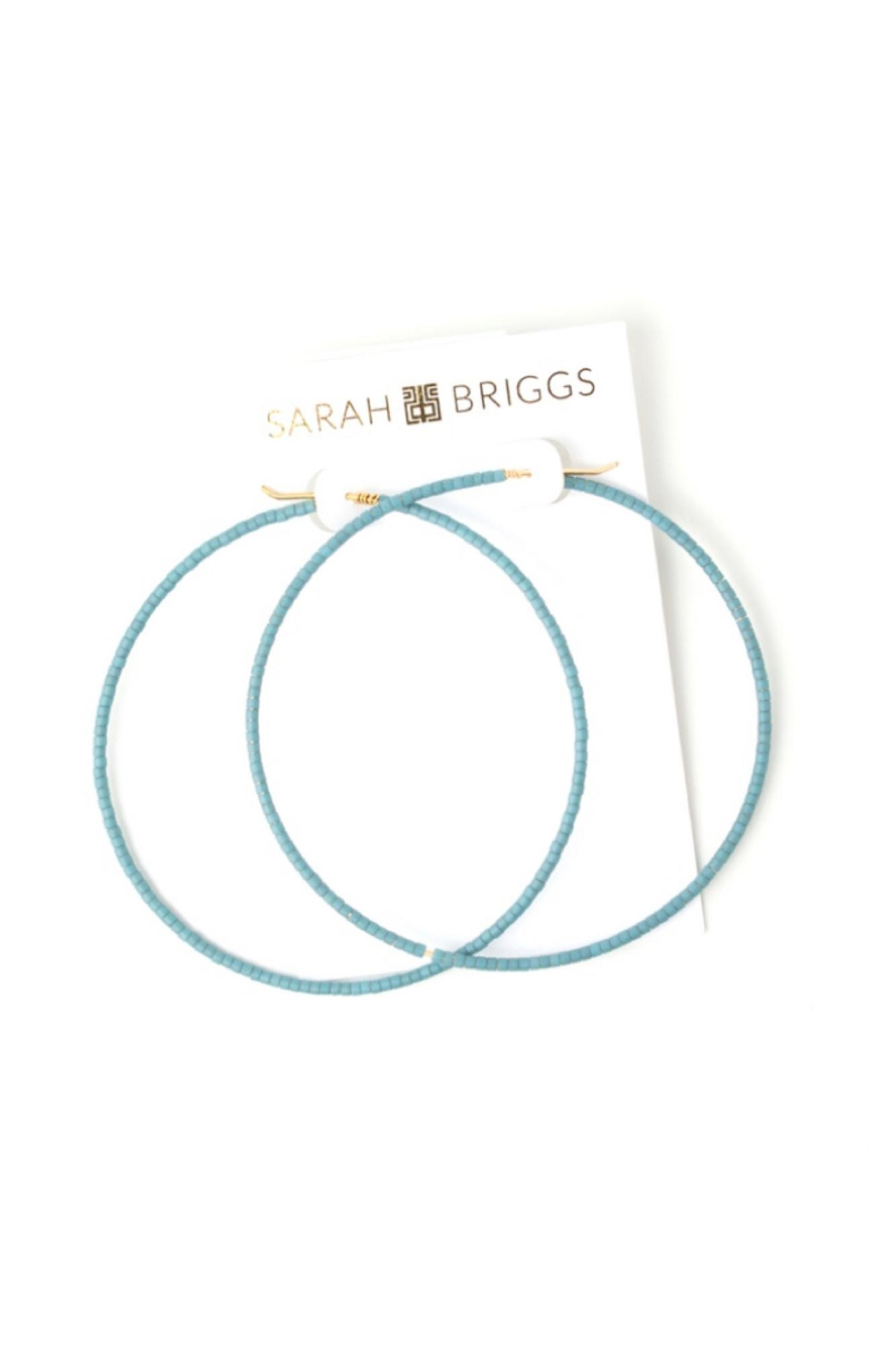 Sarah Briggs Large Beaded Hoop - Front Cropped Image