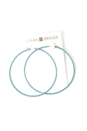 Sarah Briggs Large Beaded Hoop - Front cropped