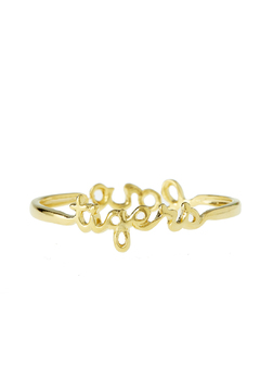Shoptiques Product: Gold Tiger Love Bangle