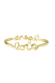 Sarah Ott Gold Tiger Love Bangle - Front full body
