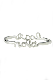 Sarah Ott Silver Nola Love Bangle - Front cropped
