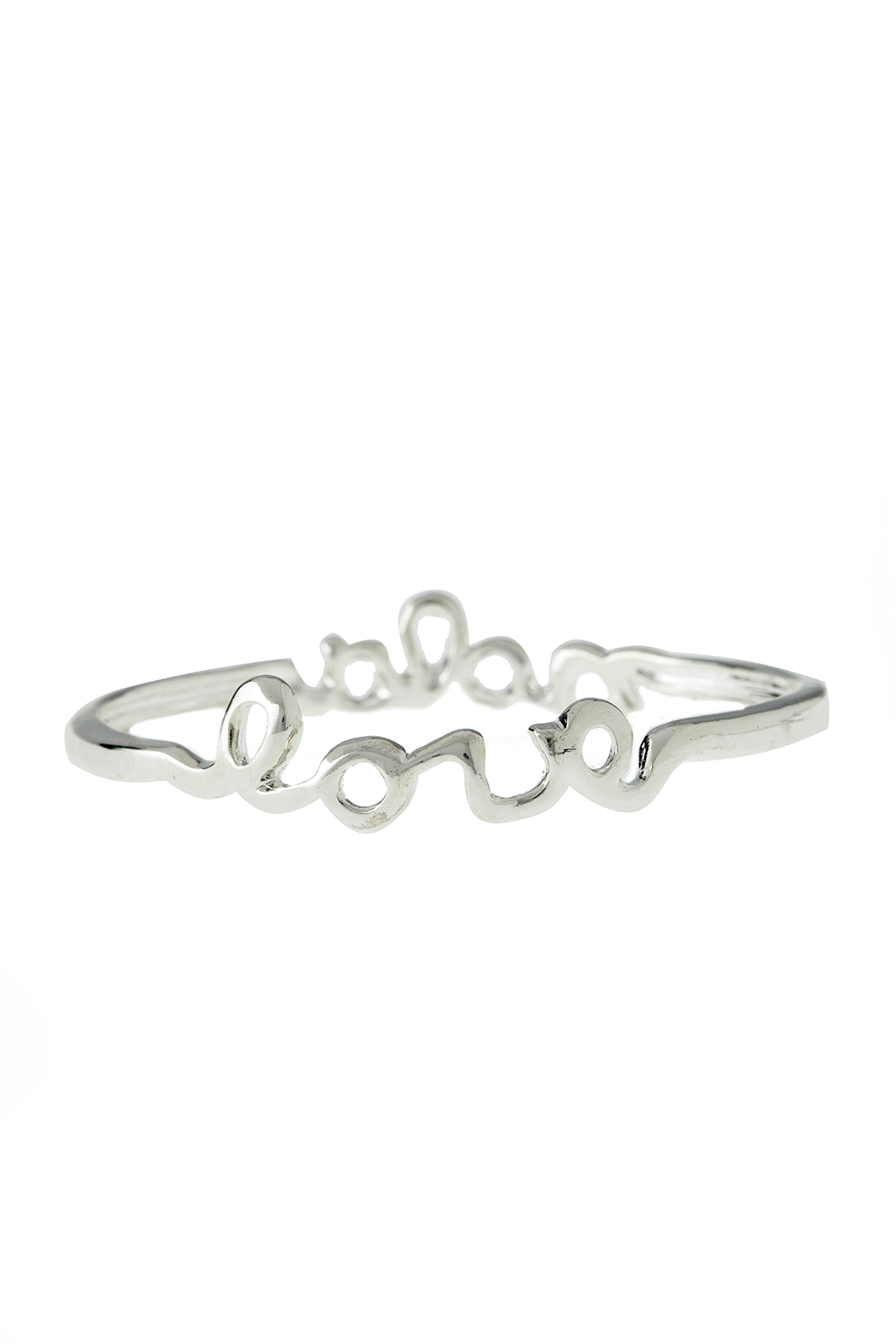 Sarah Ott Silver Nola Love Bangle - Front Full Image