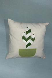 Sarahuaro and Choyera Empowering Women Cactus Square Pillow - Front cropped