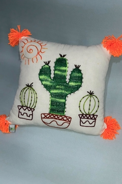 Sarahuaro and Choyera Empowering Women Double Cactus `Pillow - Product List Image