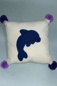Sarahuaro and Choyera Empowering Women Square Dolphin Pillow - Product List Image