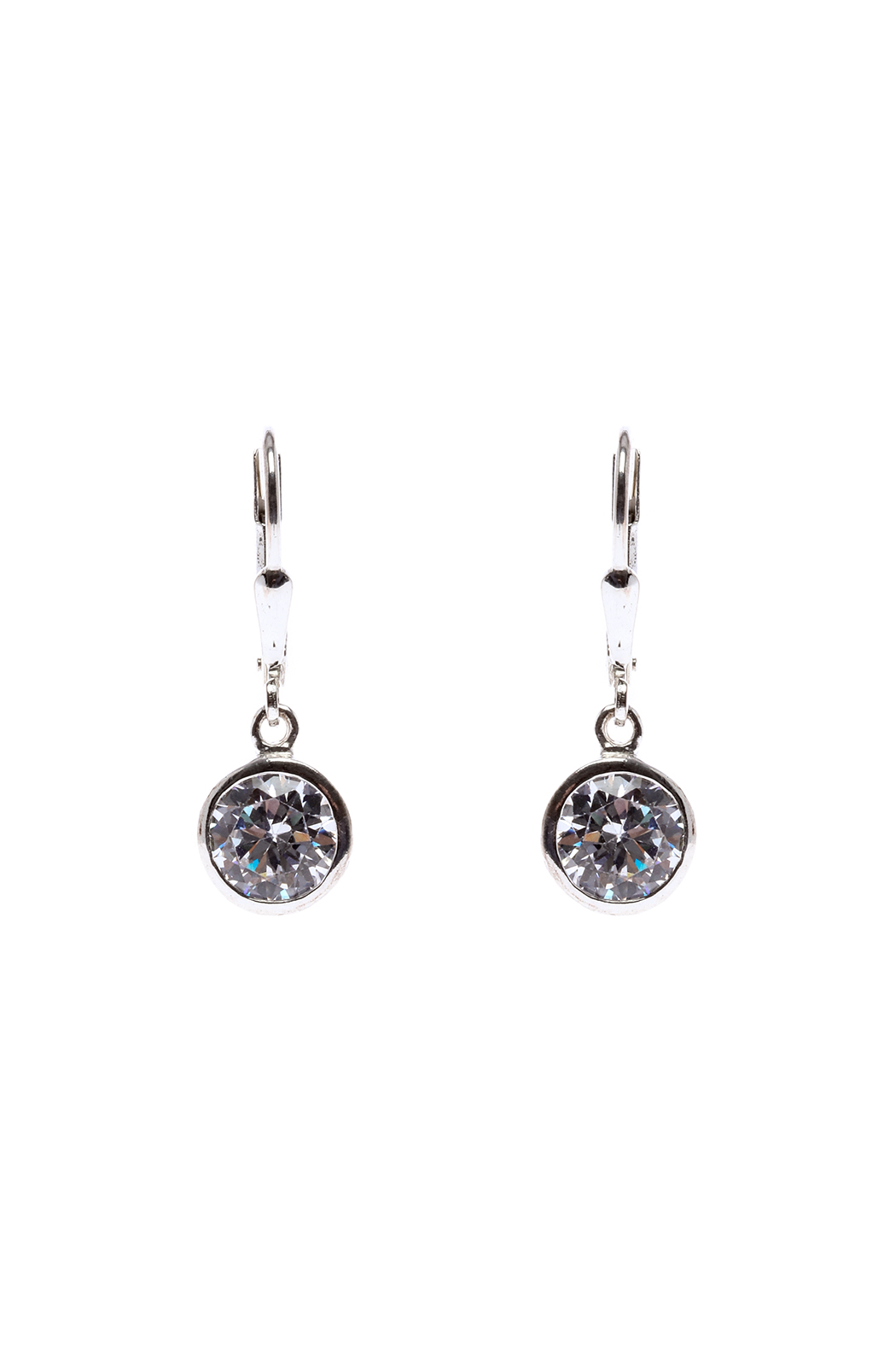 Sarapaan Circle Crystal Earring - Front Cropped Image