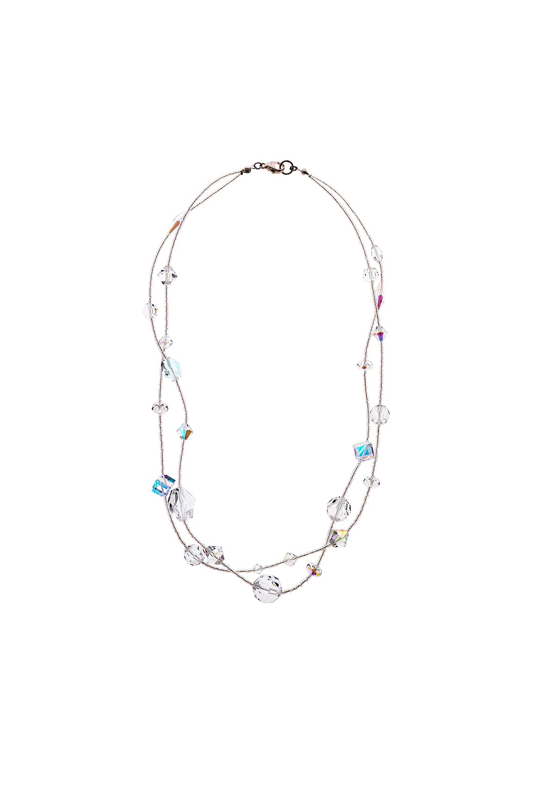 Sarapaan Double Crystal Necklace - Main Image