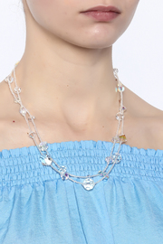 Sarapaan Double Crystal Necklace - Back cropped
