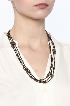 Sarapaan Long Pearl Brown Necklace - Alternate List Image