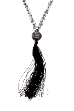 Shoptiques Product: Long Black Tassel Necklace