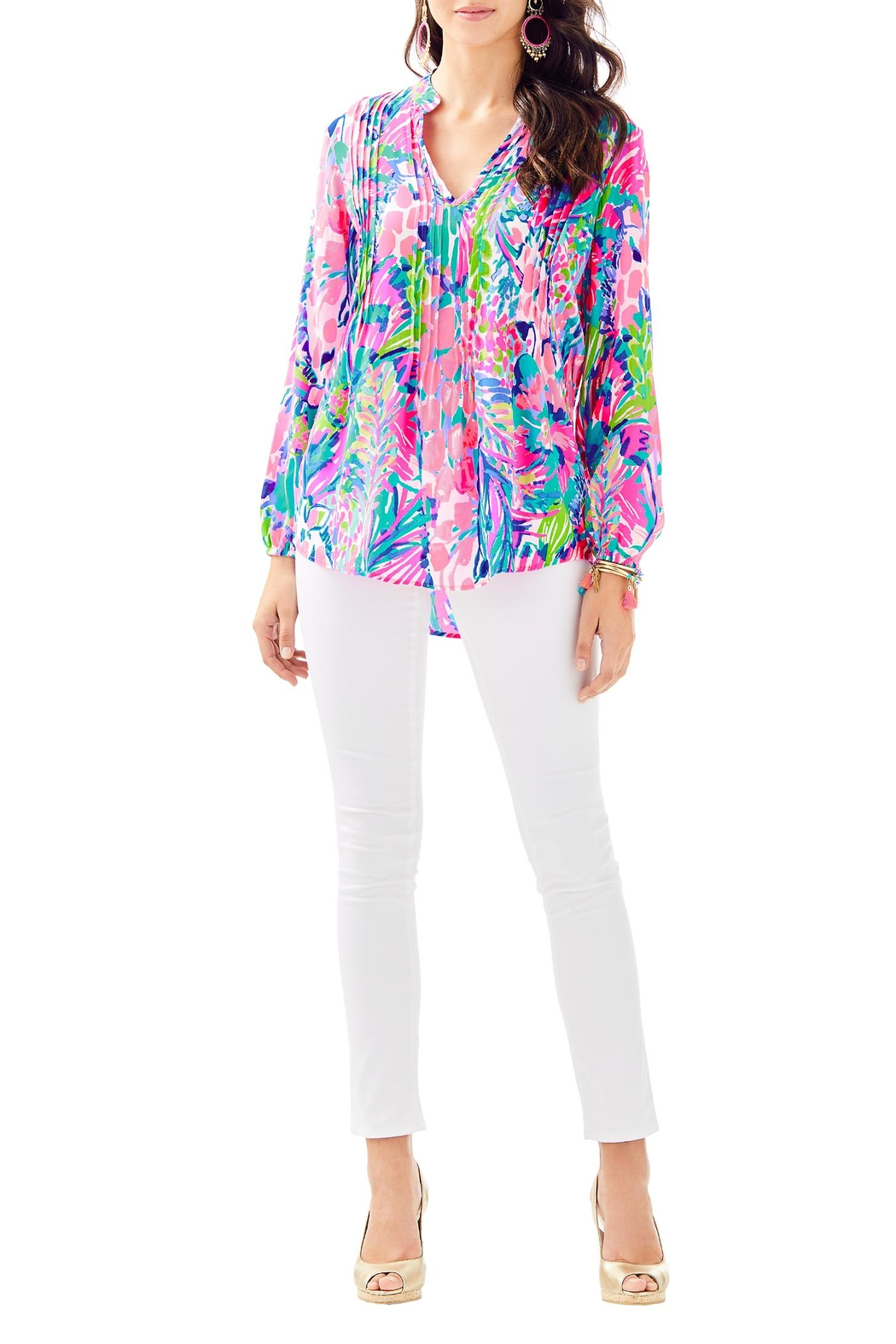 Lilly Pulitzer Sarasota Tunic Top - Side Cropped Image