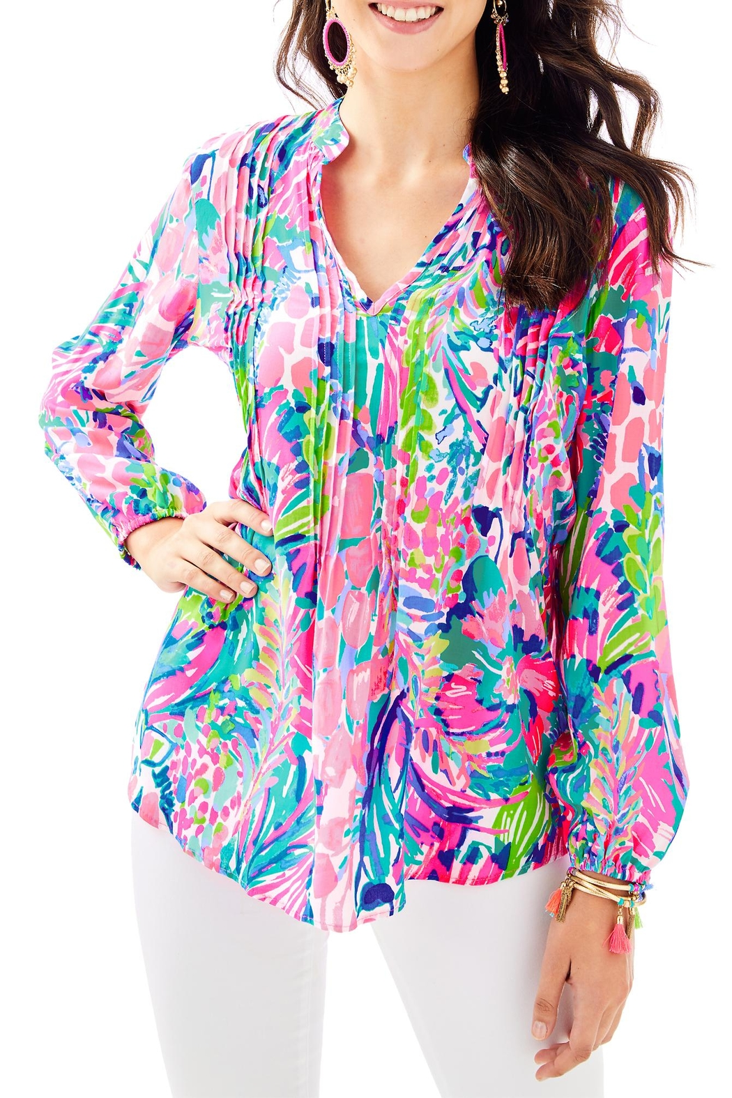 Lilly Pulitzer Sarasota Tunic Top - Front Cropped Image