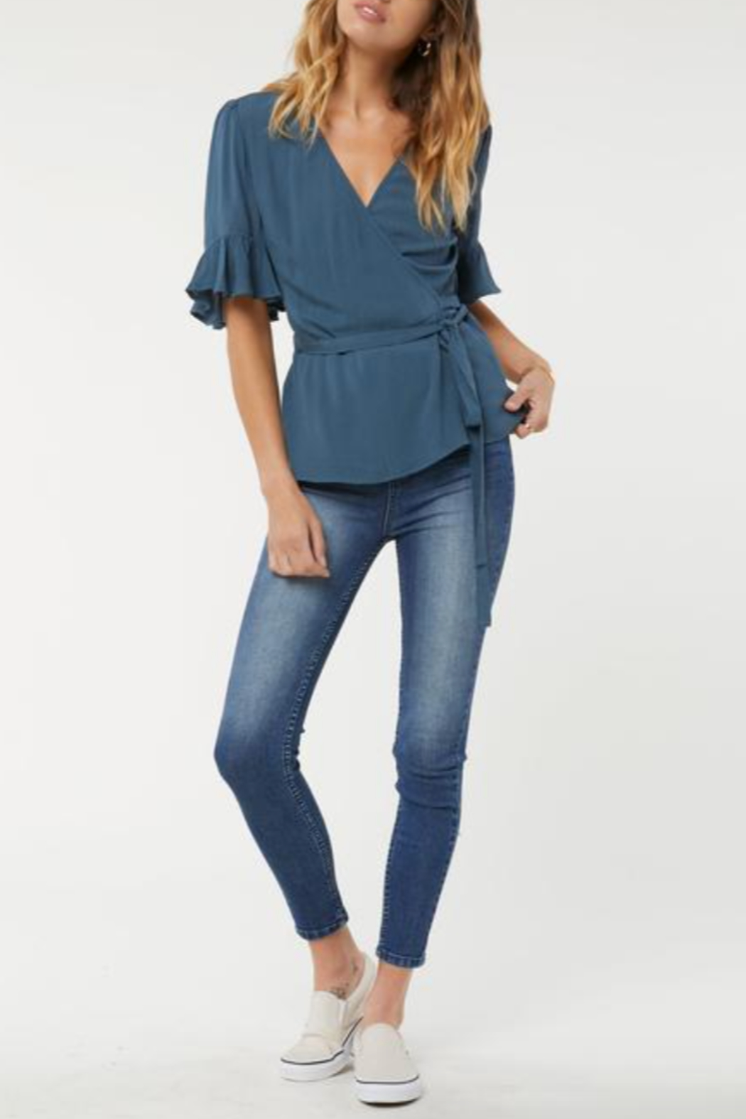 O'Neill Sarita Wrap Top - Front Cropped Image