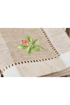 Saro Embroidered Orchid Placemat - Product List Image