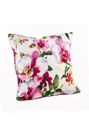 Saro Watercolor Floral Pillow - Product Mini Image