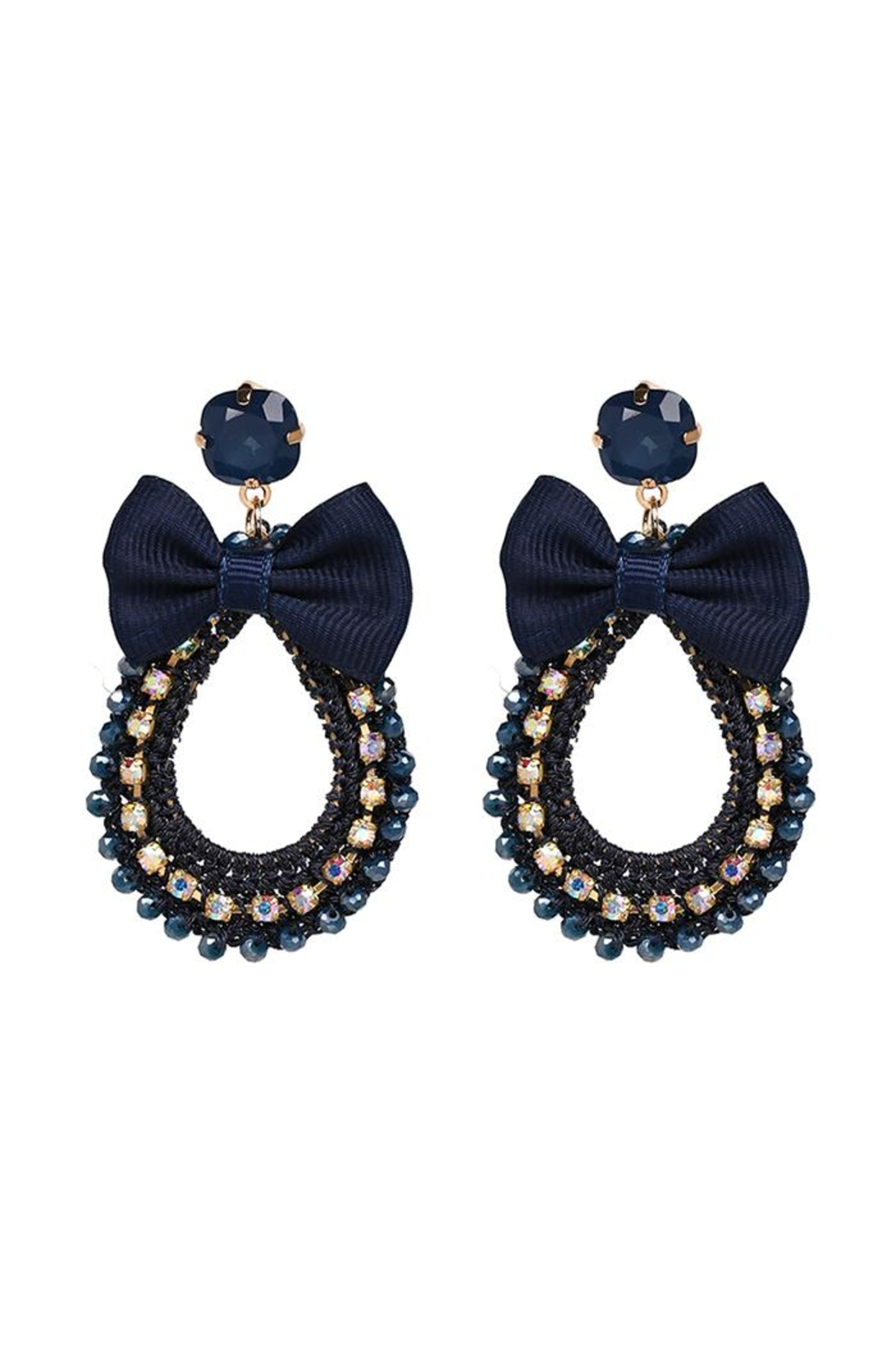 Madison Avenue Accessories Sasha Bow Earring - Front Cropped Image