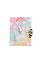 Sass & Belle Unicorn Locked Notebook - Front cropped