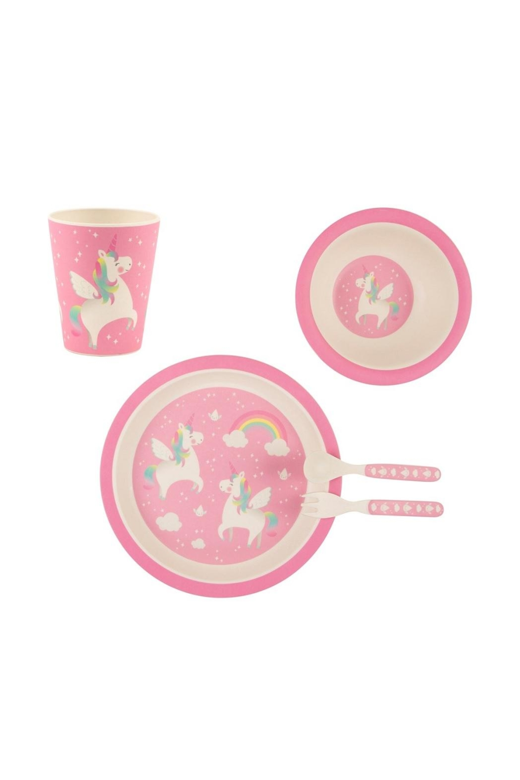 Sass & Belle Unicorn Melamine Set - Front Cropped Image