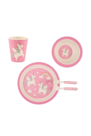 Sass & Belle Unicorn Melamine Set - Front cropped