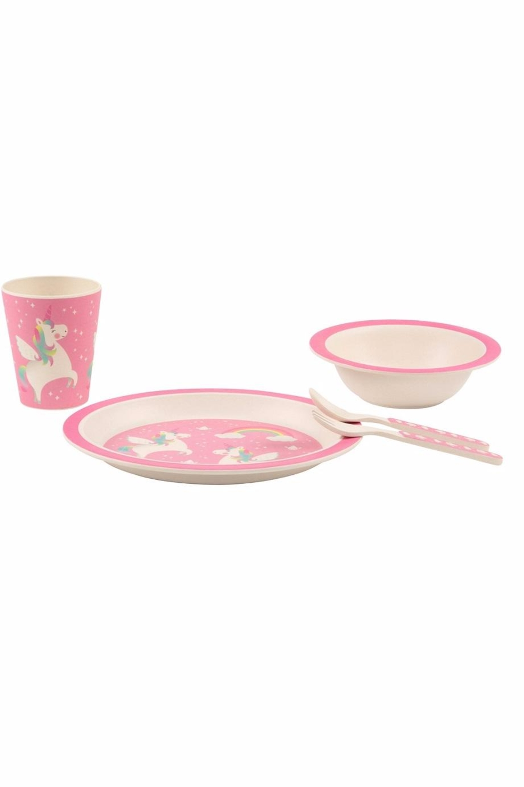 Sass & Belle Unicorn Melamine Set - Front Full Image