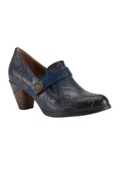 Spring Footwear Sassy Blue Shoes - Front cropped