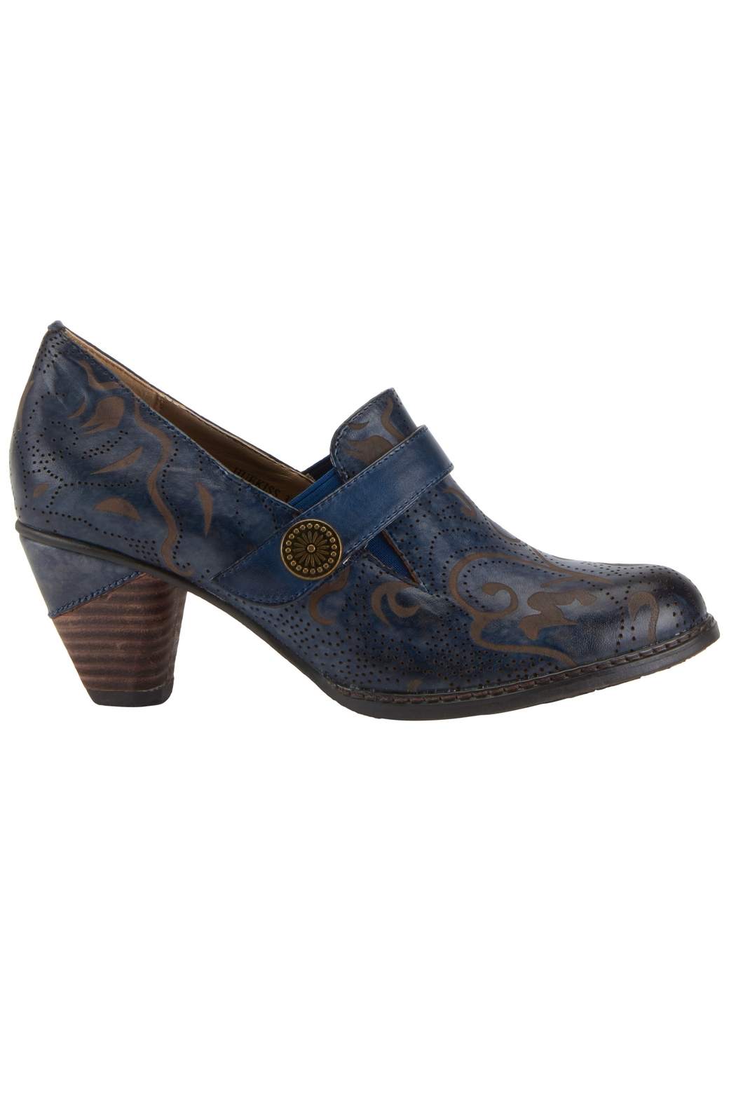 Spring Footwear Sassy Blue Shoes - Front Full Image