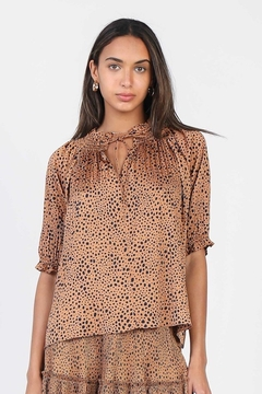 Current Air  Sassy Leopard Print Blouse - Product List Image