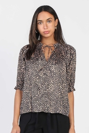 Current Air  Sassy Leopard Print Blouse - Product Mini Image