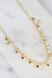 Caroline Hill Sassy Pearl & Star Necklace - Front cropped