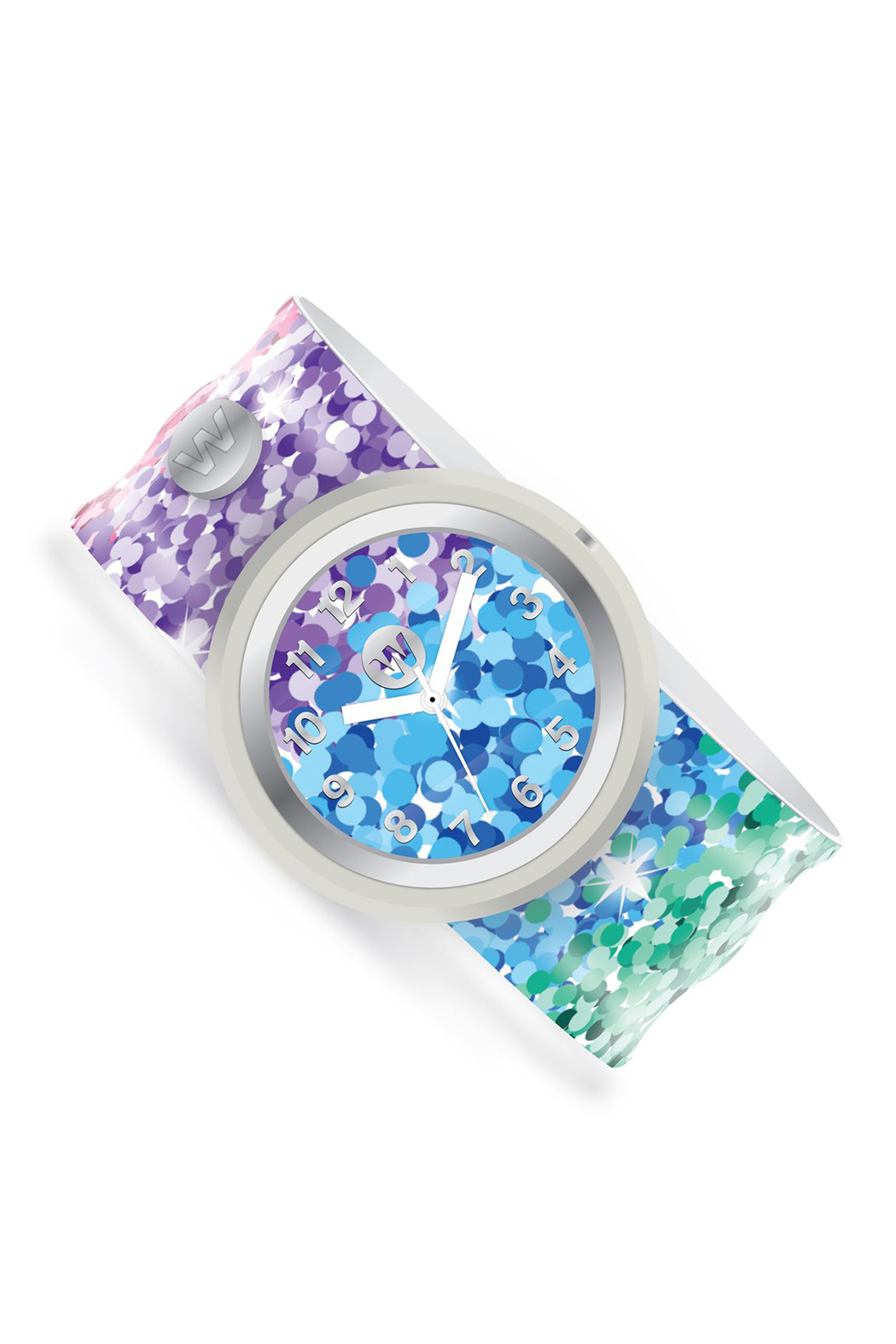 Watchitude Sassy Sequins Slap Watch - Front Full Image