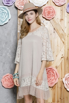 sassy Bling Lace Hem Tunic - Alternate List Image
