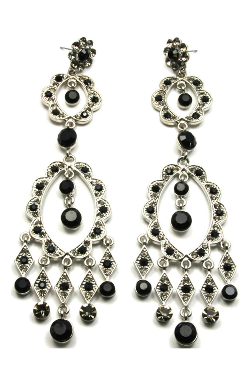 Sassy South Crystal Earrings Black - Main Image