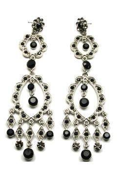 Sassy South Crystal Earrings Black - Alternate List Image