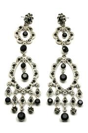 Sassy South Crystal Earrings Black - Product Mini Image