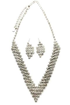 Shoptiques Product: Rhinestone-Necklace & Earrings