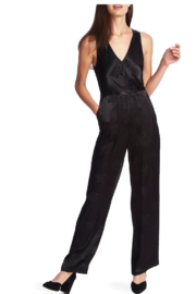 NapaLook SATEEN JACQUARD JUMPSUIT - Product Mini Image