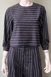 Tibi Sateen Stripe Top - Product Mini Image