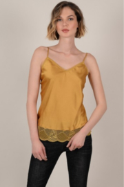 Molly Bracken Satin and Lace Camisole - Product Mini Image