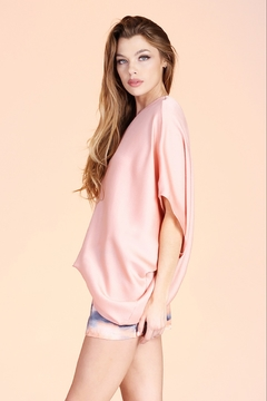 Tyche Satin Asymmetric Top - Product List Image