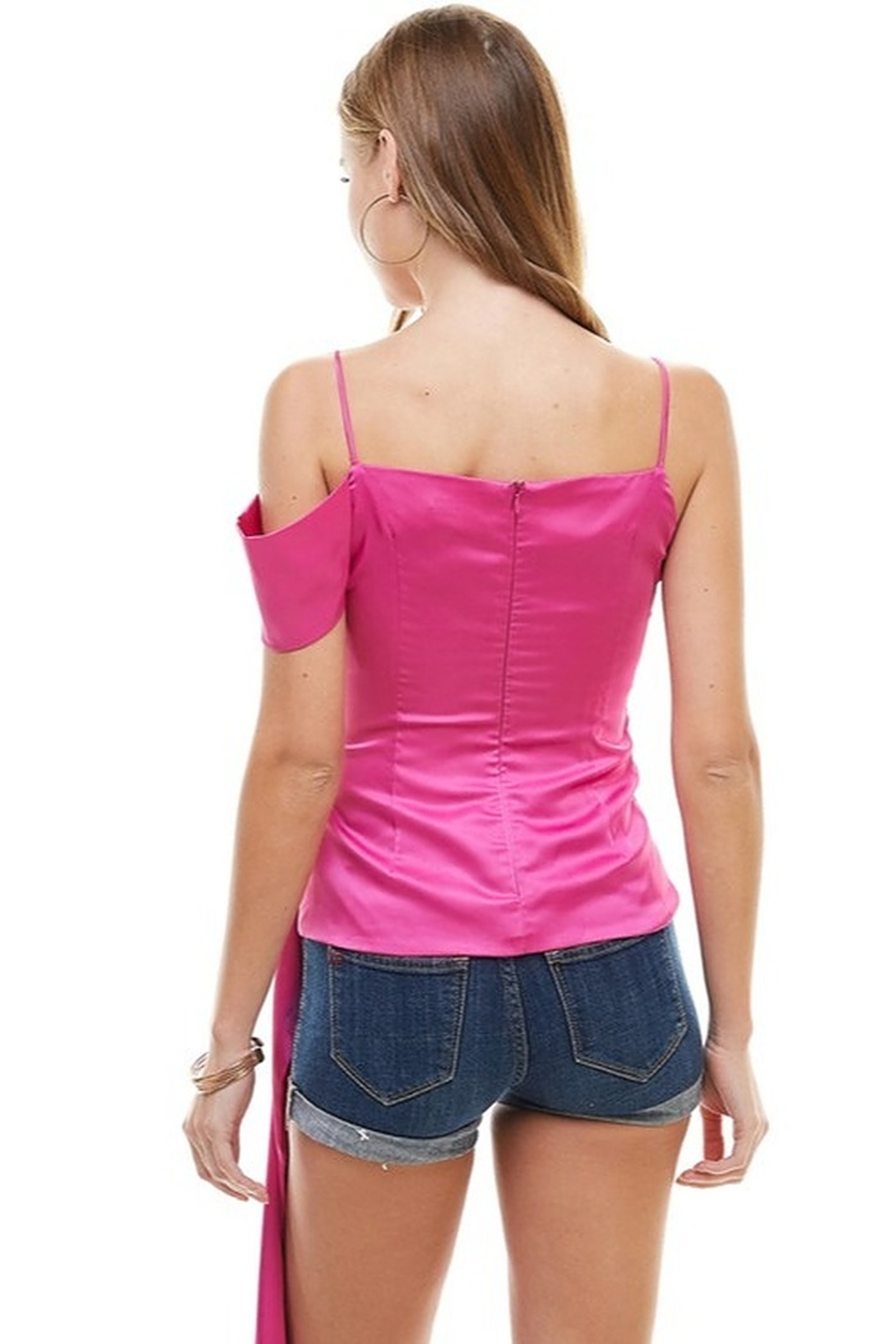 TCEC Satin Asymmetric Top - Side Cropped Image