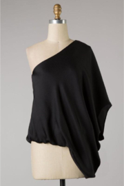Tyche Satin Asymmetric Top - Product Mini Image