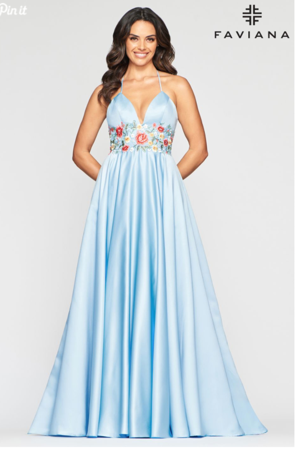 Faviana Satin Ball Gown - Front Cropped Image