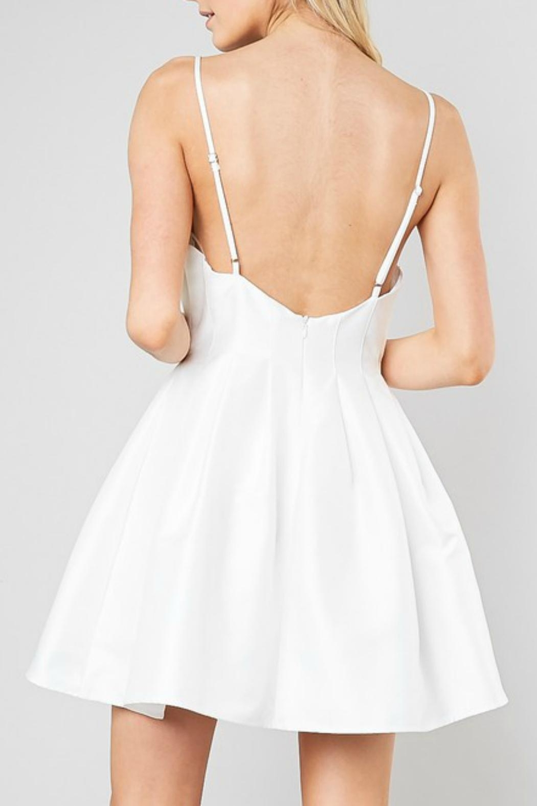 Pretty Little Things Satin Ballerina Dress - Side Cropped Image