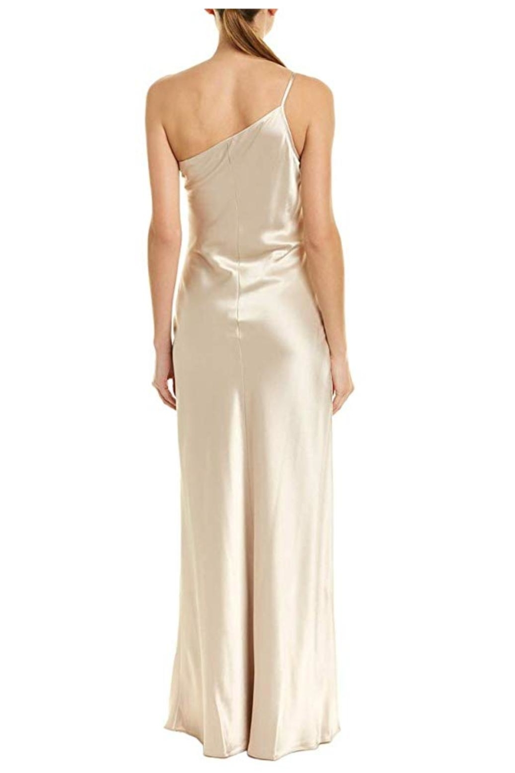 Issue New York Satin Beige Gown - Front Full Image