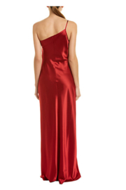 Issue New York Satin Beige Gown - Front full body