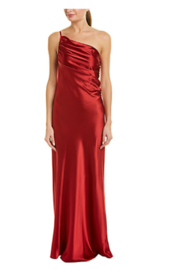 Issue New York Satin Beige Gown - Front cropped